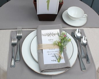 Gray Placemat | Silver / Gray Placemats for Weddings, Hotels, Catering Events and Restaurants