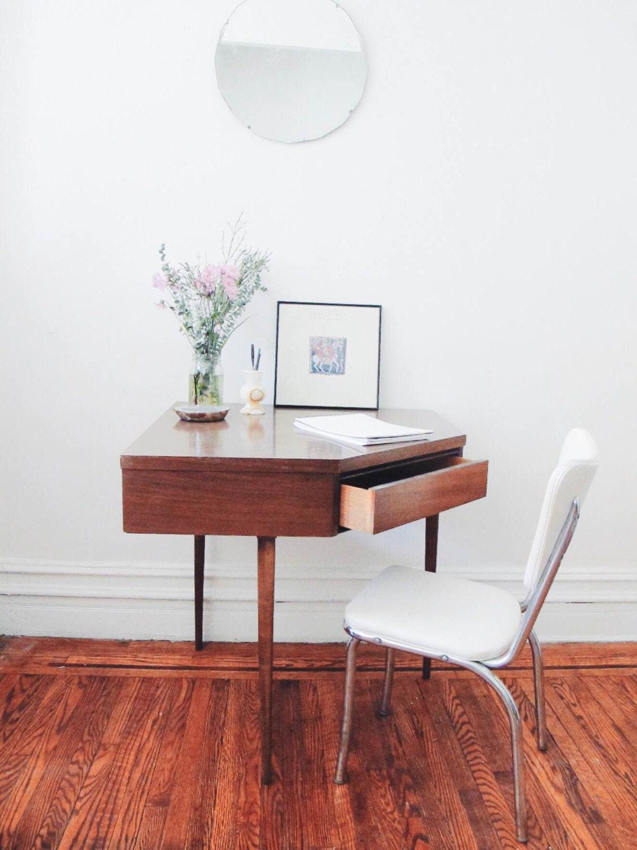 Mid Century Modern Corner Desk Vintage Small Desk