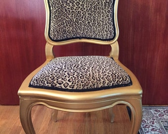 SOLD*** Leopard print accent chair ***SOLD