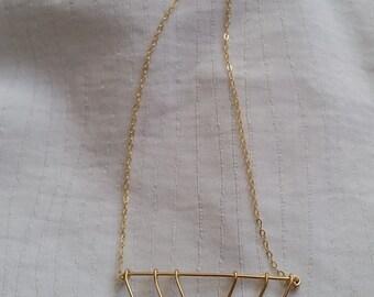 Geometric Triangle Necklace, Gold Geometric Triangle Necklace, Gold Triangle Necklace, Geometric Necklace, Triangle Necklace, Geometric