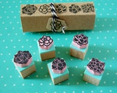Succulent rubber stamps, set of 5, mini stamps, hand carved,  DIY wedding ideas, succulent plants, cactus