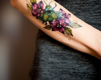 Beetle temporary tattoo by Marie Massolin