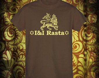 Rastafari t shirt!!! I & I Rastafari!!! Lion of Judah!!!