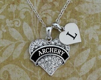 Custom Initial Archery Necklace