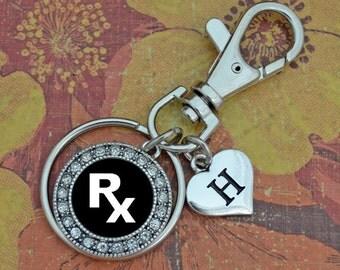 Custom Initial Pharmacy Keychain