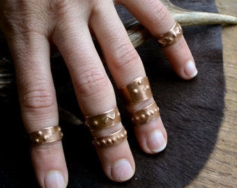Knuckle copper ring, knuckles copper ring, boho knuckle ring, boho knuckles ring, above knuckle copper ring, above the knuckle copper rings