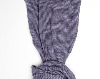 Violet Linen Scarf - Organic Scarf  - Woman Scarf  - Linen Shawl