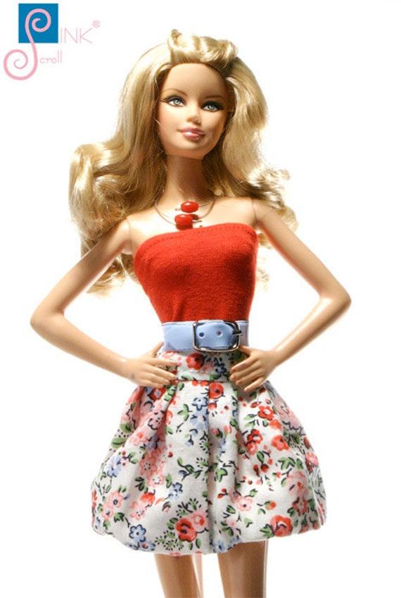 handmade kleidung f r barbie skirtbelt mirova. Black Bedroom Furniture Sets. Home Design Ideas