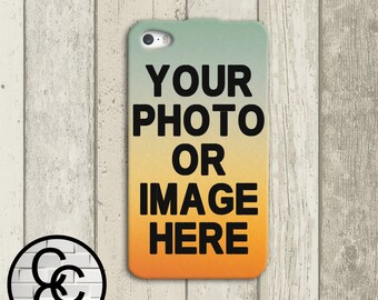 Custom Phone Case - Choose Any Image iPhone 4 and iPhone 5 iPhone 6 and iPhone 6 Plus Case