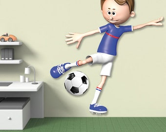 Wall decals soccer player A426 - Stickers footballeur football A426