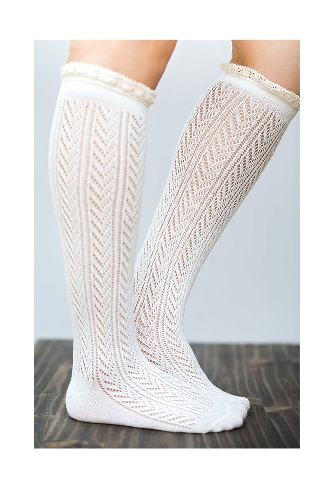 knee high lace socks white boot socks by lovoda on etsy
