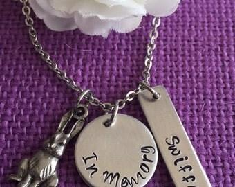 Pet Memorial Jewelry - Pet Memorial Necklace  Dog, Cat, Rabbit - Pet Loss Gift - Pet Remembrance - Bunny Memorial - Cat Memorial - Dog
