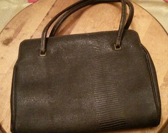 Vintage Old Black Handbag Purse Elegant and Classy