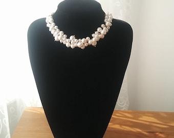 White Swarovski Pearl Necklace