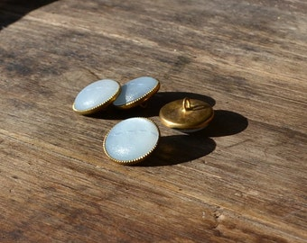 Vintage buttons, vintage metal buttons, vintage aquamarine buttons, vintage brass buttons, vintage plastic buttons, vintage supply