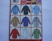 Butterick 3198 UNCUT pattern - Misses Shirts