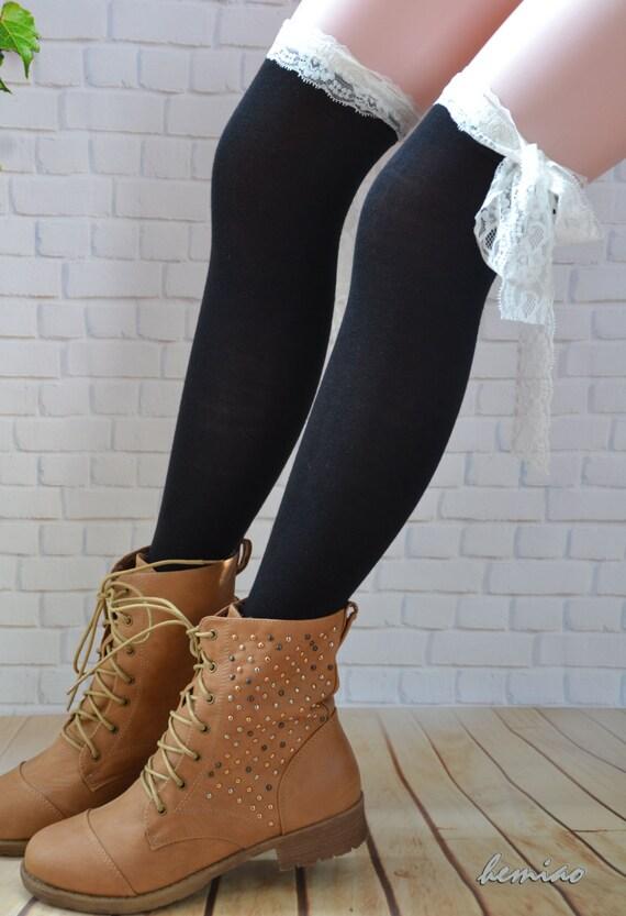 womens lace boot sockswomen knee socks thigh high