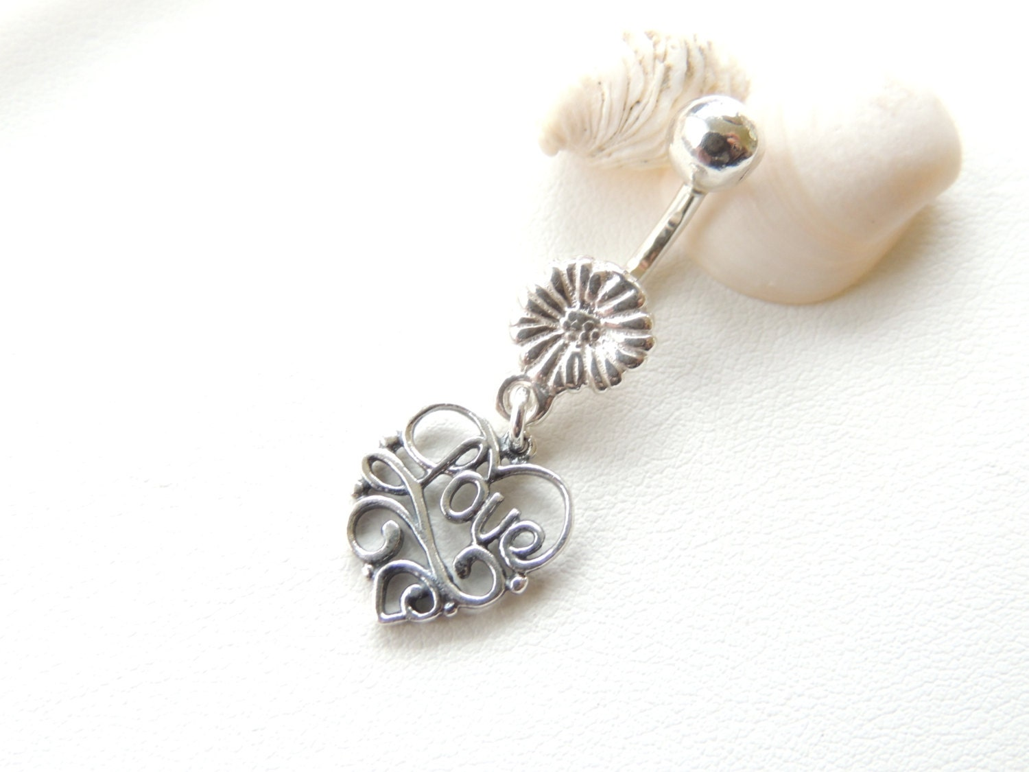 solid sterling silver belly button ring belly