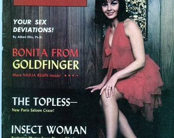 Men's Digest Magazine  1965  Sex Deviations  Insect Woman Bonita/Goldfinger The Topless  Gorgeous Sexy Women  mature