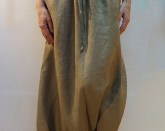 Loose Linen Pants/Linen Harem Pants/Wide Leg Pants/Skirt Pants/Beige Pants/Fashion Pants/Casual Pants/F2017
