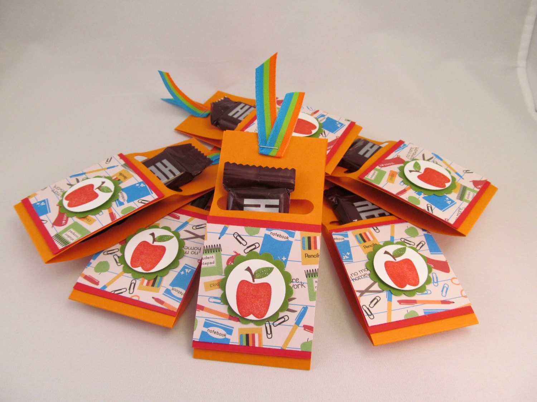 candy bar caddy set of 5 hand stamped candy bar holder for. Black Bedroom Furniture Sets. Home Design Ideas