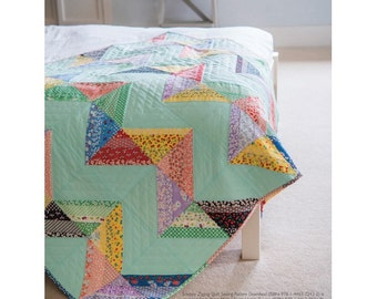 Scrappy Zigzag Quilt Sewing Pattern Download (803945)