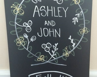 Wedding Date Chalkboard