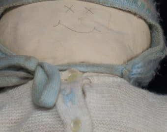Boy Rag Doll, Primitive Fabric Doll