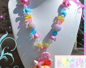 Donut and Candy Chunky Bead Lolita Necklace