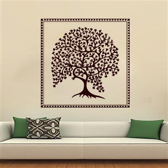 Yoga Studio Wall Decor : Tree wall decals yoga vinyl sticker decal studio gym by