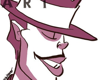 DR. FACILIER - 4x6 Print - Character Profile Series - Villain Set