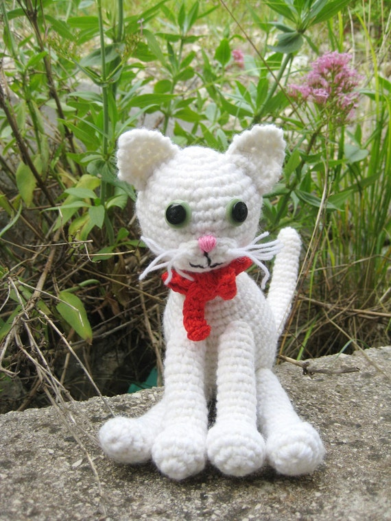 Crochet pattern amigurumi white cat Amigurumi cat pattern
