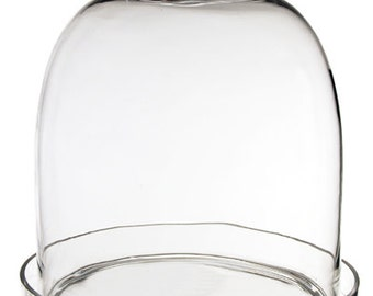 Glass Cloche with Tray (including Glass Tray) with Height 14 inches