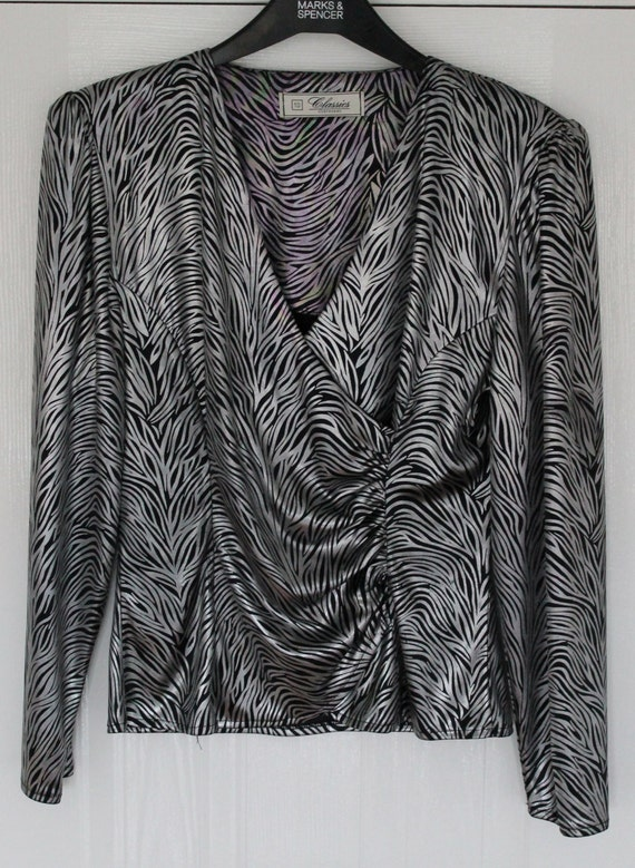 shop my stuff: 1980s zebra print evening blouse