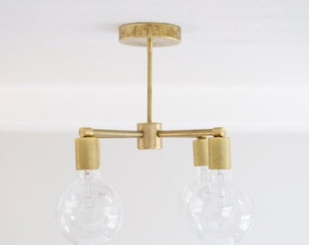4 Bulb Modern Brass Chandelier