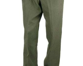 Men's Original U.S. Army Trousers Pants Military 32 x 32.5 Marine Corps Green Shade US Army 55% Polyester 45 Wool Man