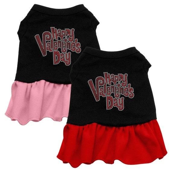 """Dog Dress, Rhinestone, """"Happy Valentines Day"""""""