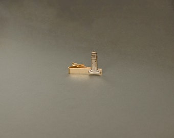 Lighthouse Tie Clip Lighthouse Gifts Outterbanks Mens Accessories Nautical Gifts Nautical Tie Clip  Gifts for Him Men's Gifts