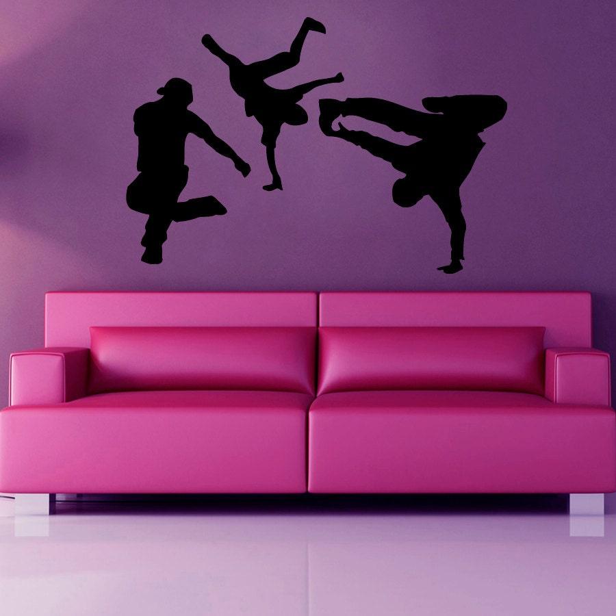Wall Decor Sticker Dance Wall Decal Boys Break Dance Dancers Gym Wall Decor Vinyl