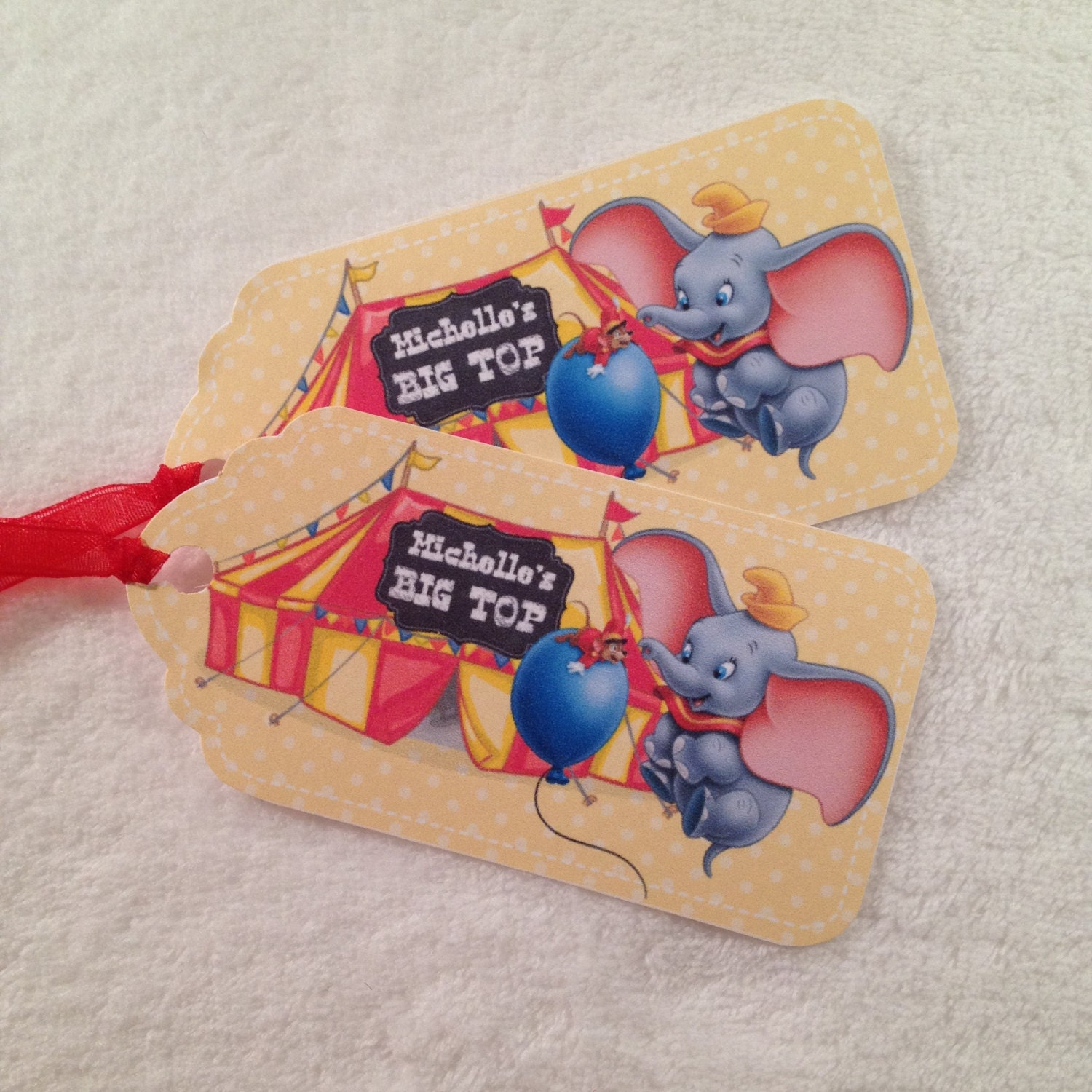10 Dumbo Personalized Party Favor Gift Tags Birthday Party