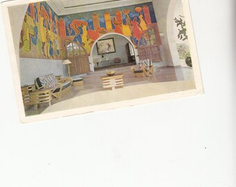 1960 Terrace Bar Hotel Port Au Prince Haiti Mid Century Modern Decor Postcard