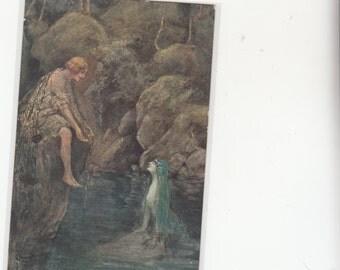 Sergei Solomko Conte-Count -Mermaid-Early K87493 Antique Postcard