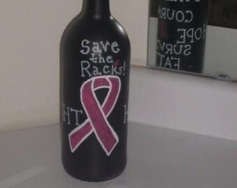 Breast Cancer Awareness Decorative Bottle