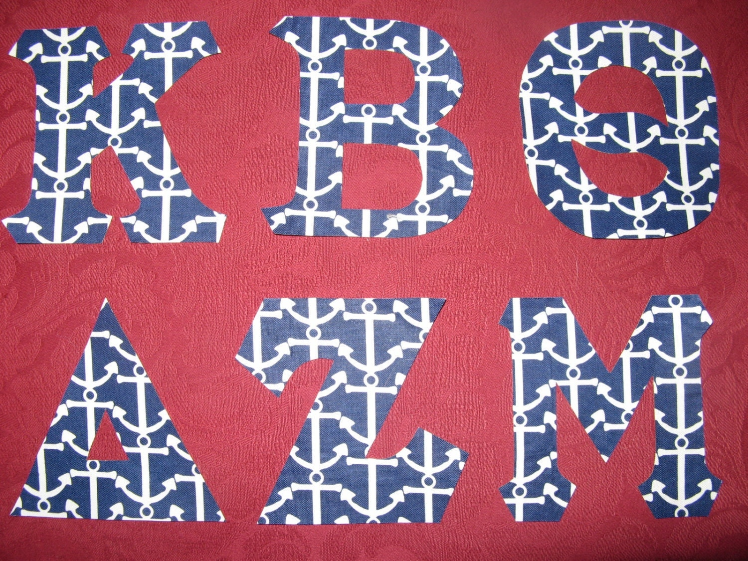 Greek Letters Anchors 4 inches Iron-On/Sew-On by ColorMeGreek