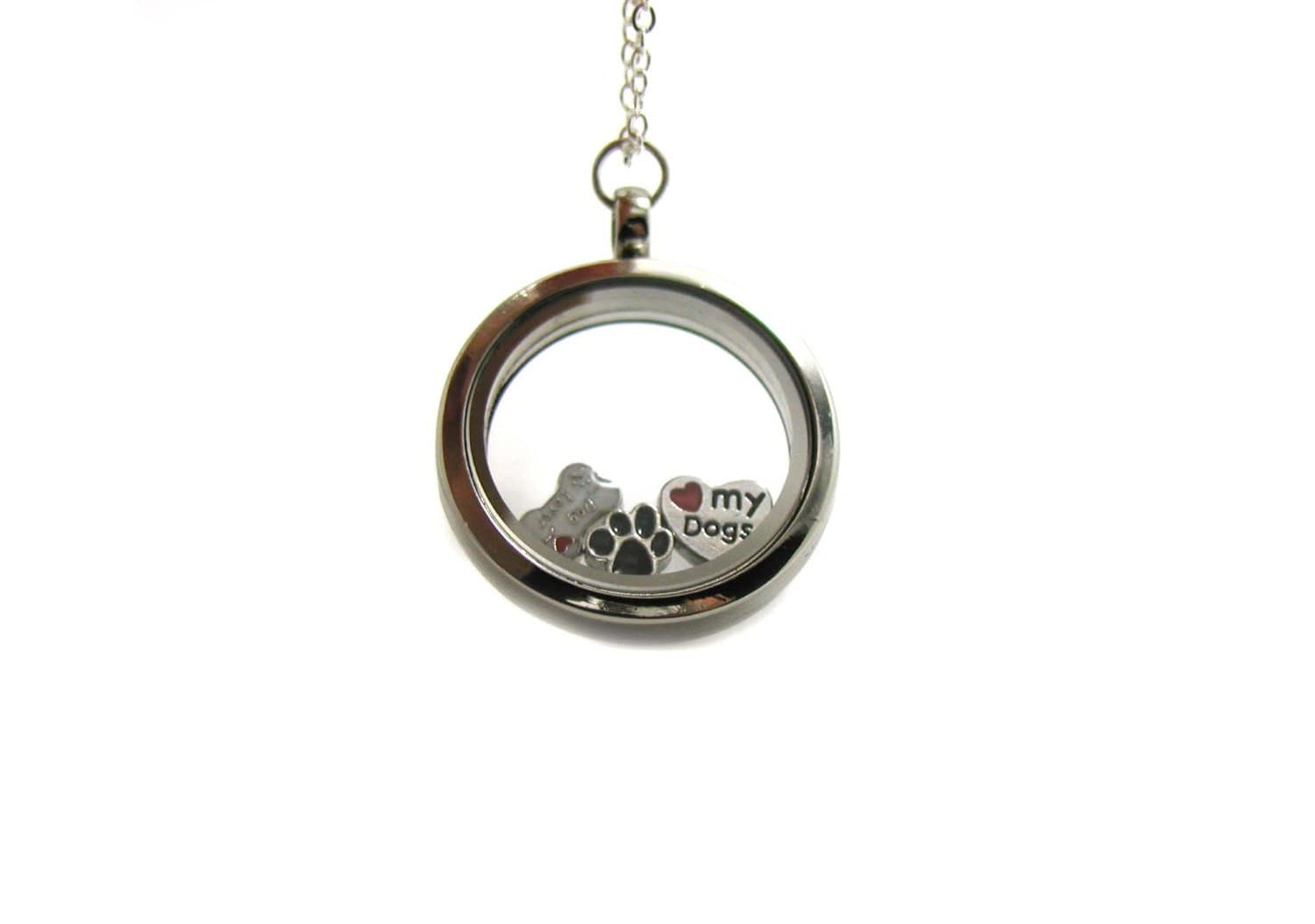 charm locket necklace memory locket floating charm