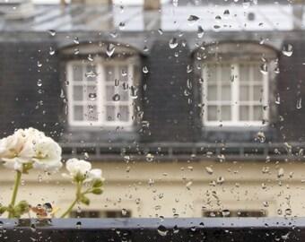 Paris rainy window, Paris rain, window view, Paris photography, Paris print, French wall art, Paris decor, home decor, fine art print