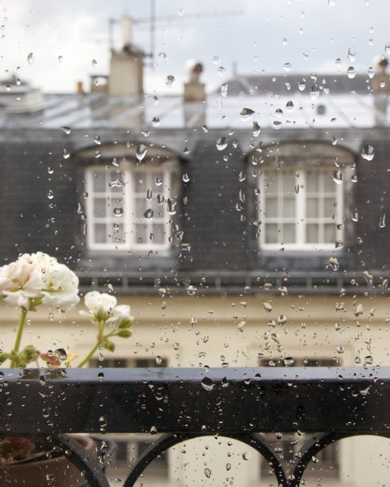 Paris rainy window, Paris rain, window view, Paris photography, French wall art, Paris decor, home decor, fine art print