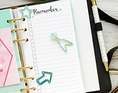 "Personal planner insert printable - remember (measures 3.7""x6.7"")"