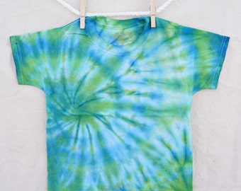 Soft Blue Green Tie-Dye T-Shirt