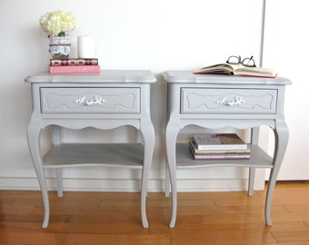 Sold - Grey bedside Tables